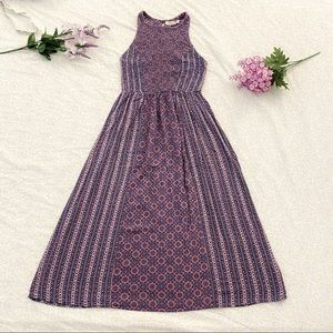 Rewind patterned a-line dress